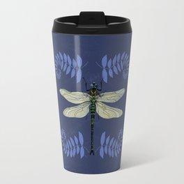Dragonfly and Ferns Travel Mug