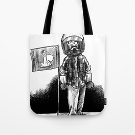 one small step for a squirrel, one giant leap for frank... Tote Bag