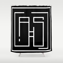 Initials A and S Shower Curtain