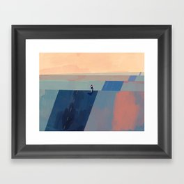Keep Going - Blue Edition Framed Art Print
