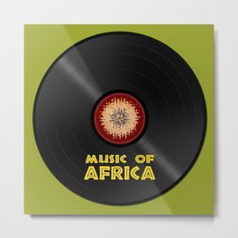 Vinyl record. Music of Africa Metal Print