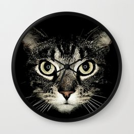 A purrfect face! Wall Clock
