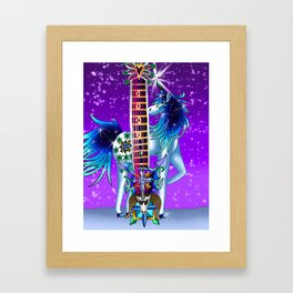 Fusion Keyblade Guitar #190 - Unicornus' Keyblade & Diamond Dust Framed Art Print