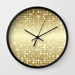 Gold pixels Wall Clock