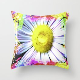 Pink And Yellow Delight Throw Pillow