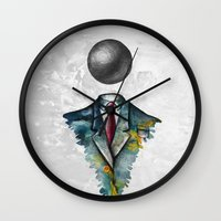 magritte Wall Clocks featuring Mr. Man • René Magritte by Ian Vicknair