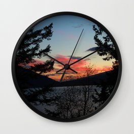 Morning Glory sunrise Wall Clock