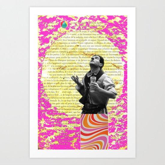 COLLAGE LOVE - the juggler Art Print
