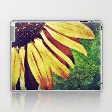 Sunflower Fleur De Lis Laptop & iPad Skin