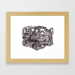 Octopus Invisble Box Framed Art Print