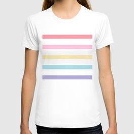 Rainbow color lines T-shirt