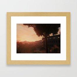 Sunset on ancient Rome Framed Art Print