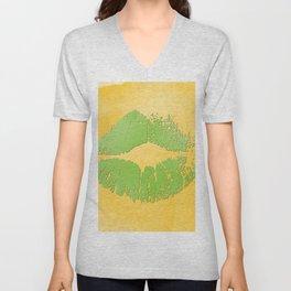 dp048-2 Watercolor kiss Unisex V-Neck