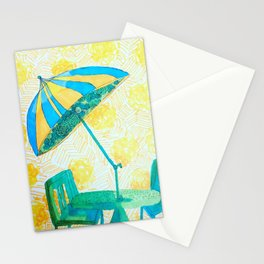 Yellow strips Stationery Cards