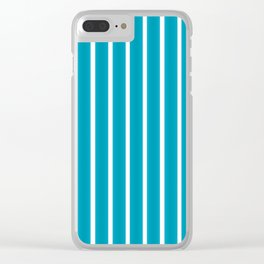 Colorful Stripes 3 Clear iPhone Case
