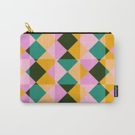 colorful retro plaid Onza Carry-All Pouch