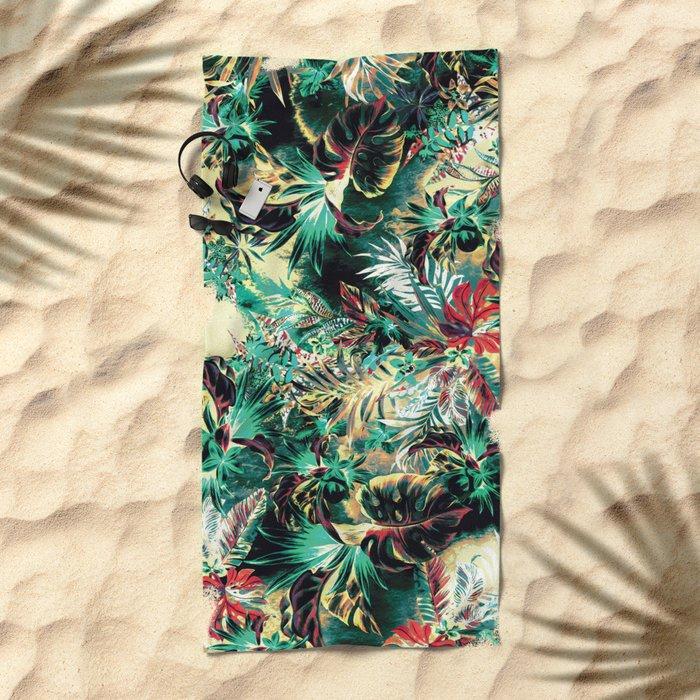 TROPICAL HEAVEN Beach Towel