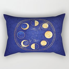 Celestial Atlas :: Lunar Phases Rectangular Pillow
