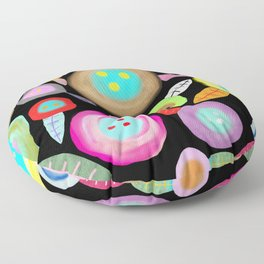 Ruth Fitta Schulz - Watercolour Floral Honey moon romantic and sweet Floor Pillow