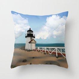 Brant Point Light Throw Pillow