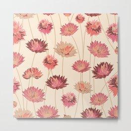 Bold Pink Flowers Metal Print