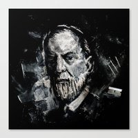 freud Canvas Prints featuring Freud by Ben Wiseman