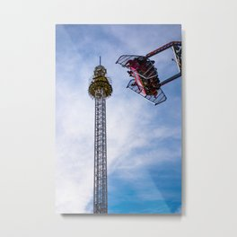 Oktoberfest Amusement Park, Munchen, Germany Metal Print