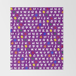 Abc's purple! Throw Blanket