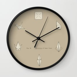 Evolution of Paper Crane Wall Clock