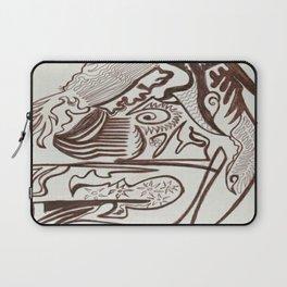 Encre brun Laptop Sleeve