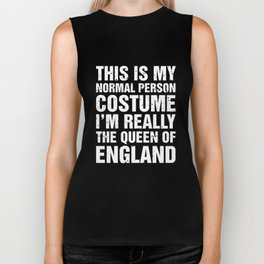 Union Jack I'm Really The Queen Of England Biker Tank