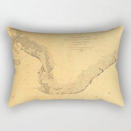 Map of Galveston Bay 1851 Rectangular Pillow