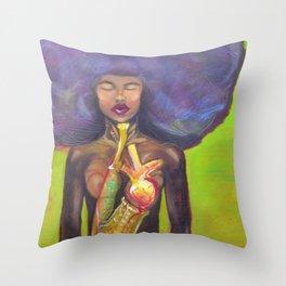 The Jazzsinger Throw Pillow