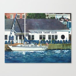 Pentwater Yacht Club Canvas Print