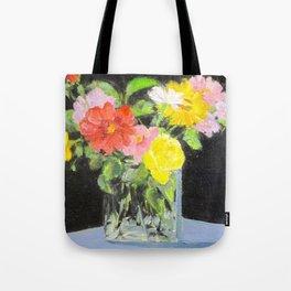 mixed summer flower bouquet Tote Bag