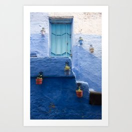 Doors - Chefchaouen IV, The Blue City - Morocco Art Print