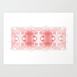 The Willow Pattern (Rose variation) Art Print