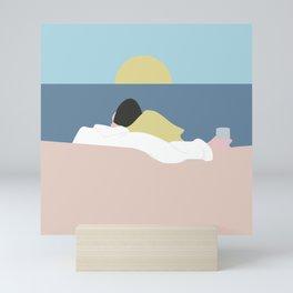 Feelings into sunset Mini Art Print