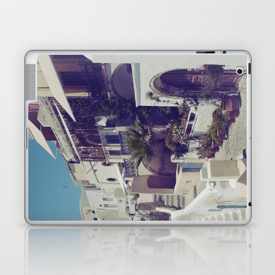 Streets of Santorini I  Laptop & iPad Skin