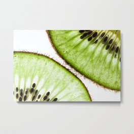 Macro photo of kiwifruit Metal Print