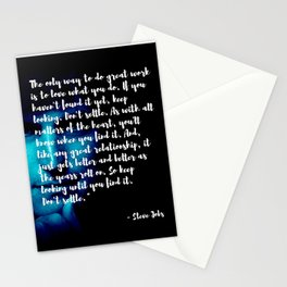 Steve Jobs 'DONT SETTLE' quote Stationery Cards