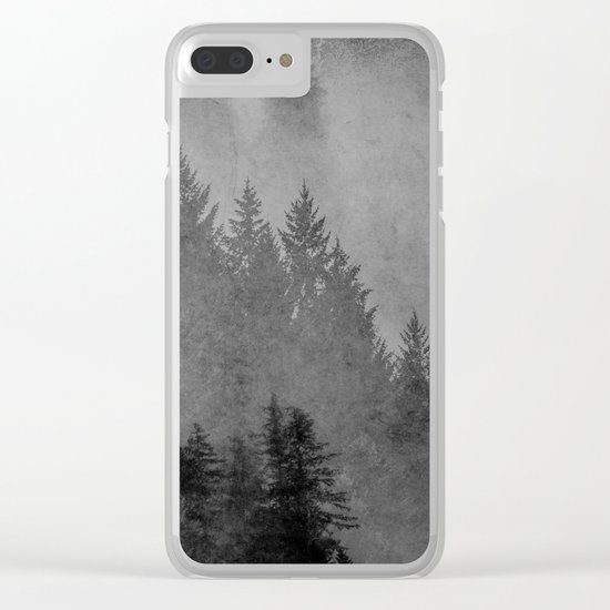 Charcoal Forest Clear iPhone Case
