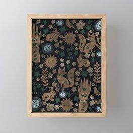 Mystic Nightlife Elements Framed Mini Art Print