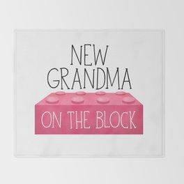 New Grandma On The Block Throw Blanket
