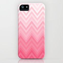 Fading Pink Chevron iPhone Case