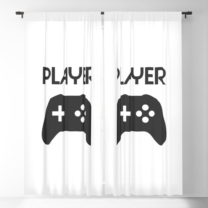 Player Text and Gamepad Blackout Curtain