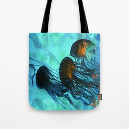 Jellyfish of the Under Sea Volcano Tote Bag