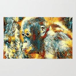 AnimalArt_OrangUtan_20180204_by_JAMColors Rug