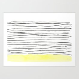The Bottom Line- YELLOW Art Print