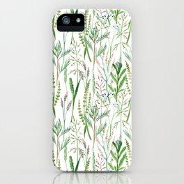 herbal pattern iPhone Case